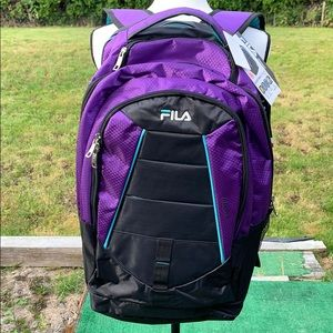 NWT Fila Laptop Multiple Compartment Backpack